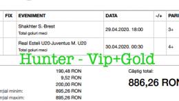 Bilet Vip+Gold cu castig 886 lei - 30.04.2020