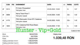 Bilet Vip+Gold cu castig 1039 lei - 25.05.2020