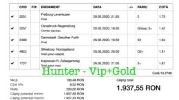 Bilet Vip+Gold cu castig 1937 lei - 30.05.2020