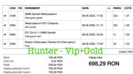 Bilet Vip+Gold cu castig 1009 lei - 12.05.2020