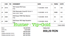 Bilet Vip+Gold cu castig 858 lei - 12.05.2020