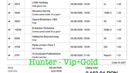 Bilet Vip+Gold cu castig 2163 lei - 04.06.2020