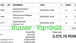 Bilet Vip+Gold cu castig 3375 lei - 10.06.2020