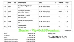 Bilet Vip+Gold/Premium cu castig 1230 lei - 21.06.2020