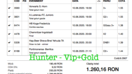 Bilet Vip+Gold cu castig 1260 lei - 11.06.2020