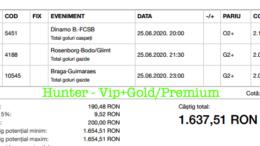 Bilet Vip+Gold/Premium cu castig 1637 lei - 26.06.2020