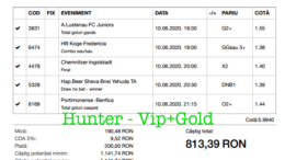 Bilet Vip+Gold cu castig 813 lei - 11.06.2020