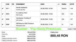 Bilet Vip+Gold/Premium cu castig 889 lei - 27.06.2020