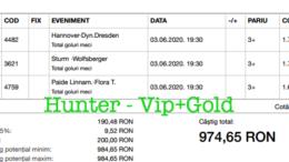 Bilet Vip+Gold cu castig 974 lei - 04.06.2020