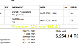 Castig 15919 cu biletele Gold - 10.07.2020