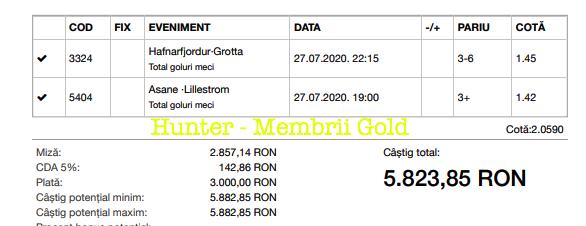 Castig 17751 cu biletele Gold - 28.07.2020