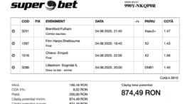 Biletul Zilei Pariuri 04.08.2020 - cota 5