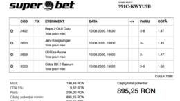 Biletul Zilei Pariuri 10.08.2020 - cota 5