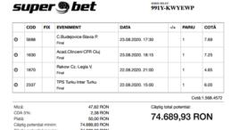 Biletul Bomba pentru weekend - 4 meciuri/ cota 1568