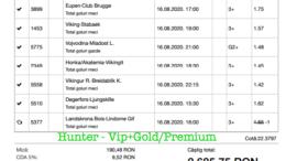 Bilet Vip+Gold/Premium cu castig 2685 lei - 19.08.2020