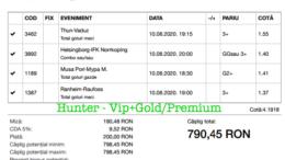 Bilet Vip+Gold/Premium cu castig 790 lei - 11.08.2020
