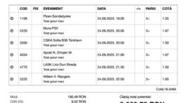 Biletul Zilei Pariuri 24.09.2020 - cota 16