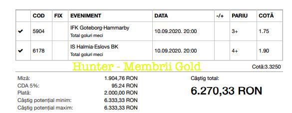 Castig 18271 cu biletele Gold - 11.09.2020