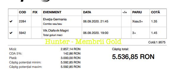 Castig 17856 cu biletele Gold - 07.09.2020