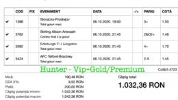 Bilet Vip+Gold/Premium cu castig 1034 lei - 07.10.2020