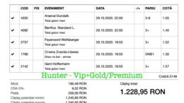 Bilet Vip+Gold/Premium cu castig 1228 lei - 30.10.2020