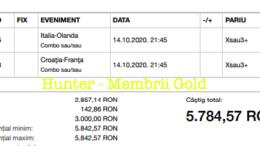Castig 17232 cu biletele Gold - 15.10.2020