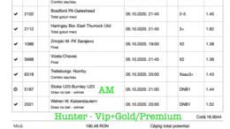 Bilet Vip+Gold/Premium cu castig 2875 lei - 06.10.2020
