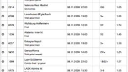 30 ponturi fotbal 08.11.2020 pentru biletul zilei