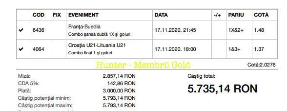 Castig 16618 cu biletele Gold - 18.11.2020
