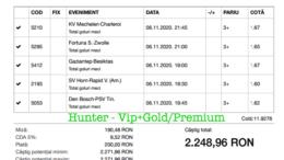 Bilet Vip+Gold/Premium cu castig 2248 lei - 07.11.2020
