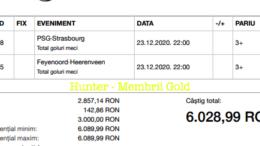 Castig 18261 cu biletele Gold - 24.12.2020