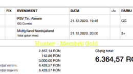 Castig 16865 cu biletele Gold - 22.12.2020