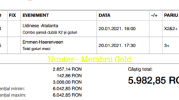 Castig 16763 cu biletele Gold - 21.01.2021