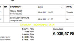 Castig 17465 cu biletele Gold - 20.01.2021