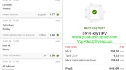 Bilet Vip+Gold/Premium cu castig 848 lei - 01.03.2021