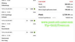 Bilet Vip+Gold/Premium cu castig 2729 lei - 07.03.2021