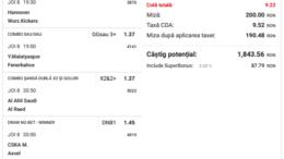 Biletul Zilei Pariuri 08.04.2021 - cota 10