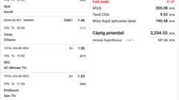 Biletul Zilei Pariuri 16.04.2021 - cota 10