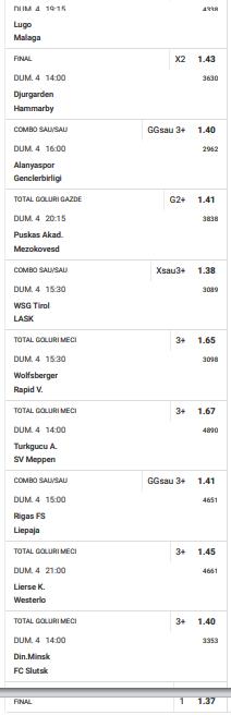 30 ponturi fotbal 04.04.2021 pentru biletul zilei