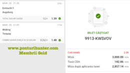 Castig 17498 cu biletele Gold - 21.04.2021