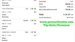 Bilet Vip+Gold/Premium cu castig 1,131 lei - 22.04.2021