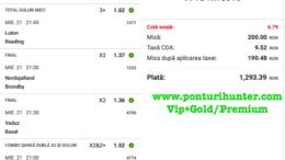 Bilet Vip+Gold/Premium cu castig 1,293 lei - 22.04.2021