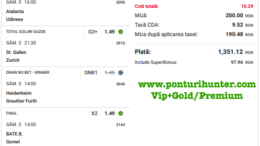 Bilet Vip+Gold/Premium cu castig 1351 lei - 05.04.2021