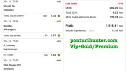 Bilet Vip+Gold/Premium cu castig 1918 lei - 17.04.2021