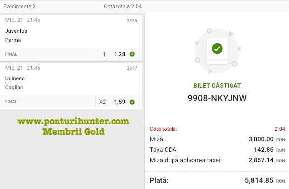 Castig 21175 cu biletele Gold - 22.04.2021