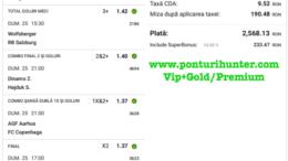 Bilet Vip+Gold/Premium cu castig 2.568 lei - 26.04.2021